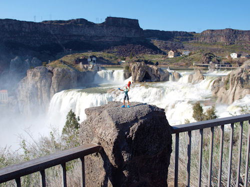 Little Man at Shoshone Falls